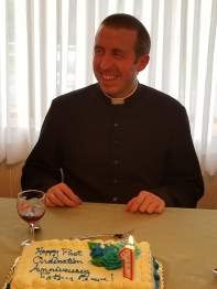 Some parishioners threw me a surprise 1 year ordination anniversary party.