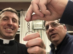 Fr. Patti hands over the keys: I was named an administrator of a little parish nearby. Now I have three jobs: parochial vicar, administrator, hospital chaplain.