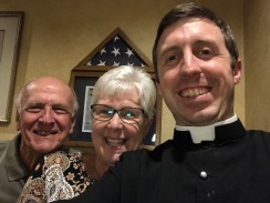 This great couple took me to dinner at an Italian restaurant. Our pastor and parishioners were on a trip to Rome at the same time.